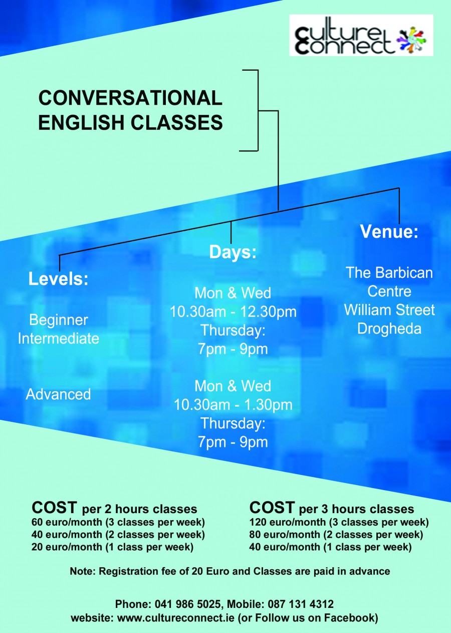 New Conversational English Classes images blue